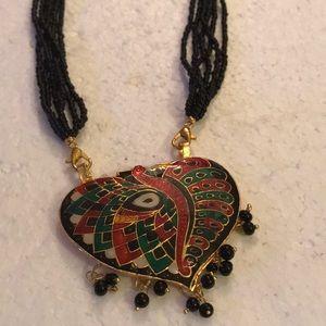 Indian enamel necklace